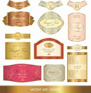 gorgeous classic bottle label 03 vector free vector 4vector With design bottle labels online free