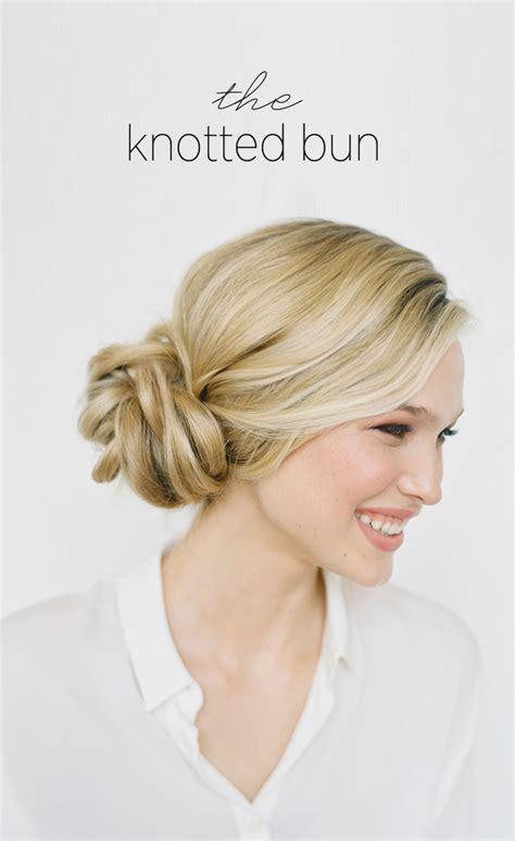 diy knotted bun wedding hairstyle wedding hair updo ideas
