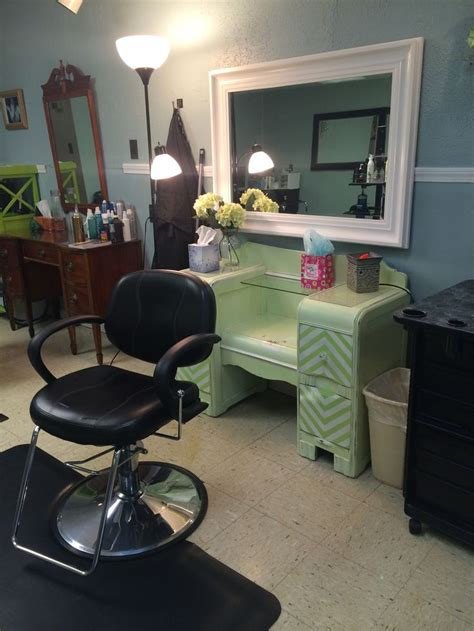 Ideas Salon Station by Mint Green Distressed Dresser Turned Into A Salon Styling