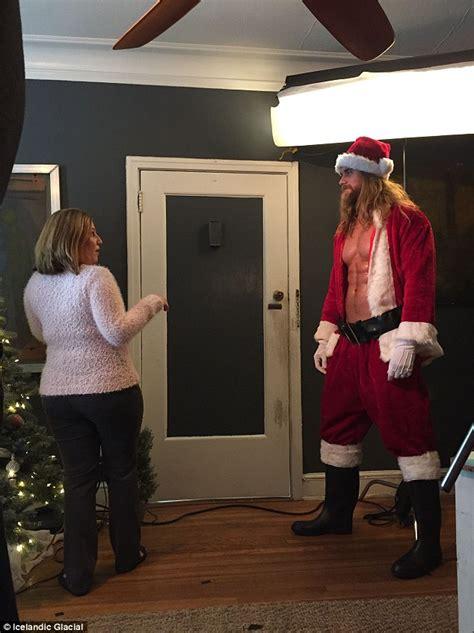 Instagram Star Brock Hurn Sheds His Shirt Play Santa