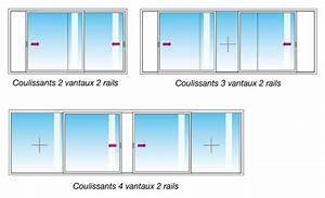 dimension standard baie coulissante alu mam menuiserie With dimension porte fenetre coulissante