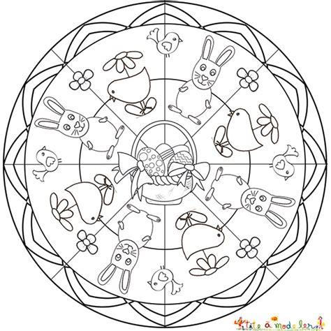 mandalas de paques bonne idee pour occuper les enfants