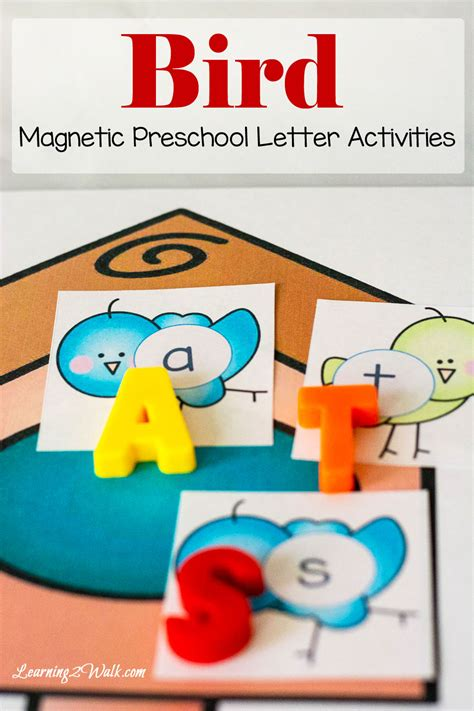 bird preschool letter activities learning  walk