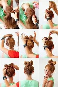Cute bow hairstyle | Cheer | Pinterest