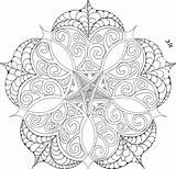 Coloring Mandala Adult Flower Colouring Cool Printable Mandalas Geometric Drawing Sheets Pentagram Middle Painting Drawings Zentangles Thebrightowl Owl Template Change sketch template