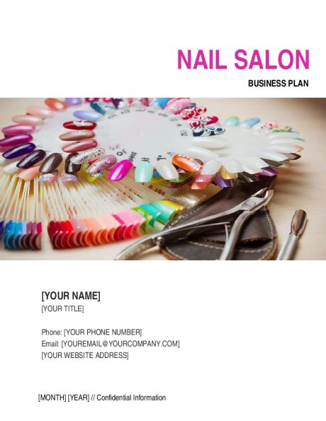 nail salon business plan template sample form