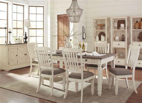 bolanburg white  gray rectangular dining room set