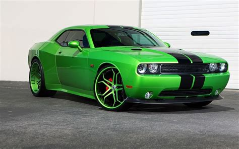 Dodge Car : Car, Green Cars, Dodge Challenger Hellcat, Vehicle
