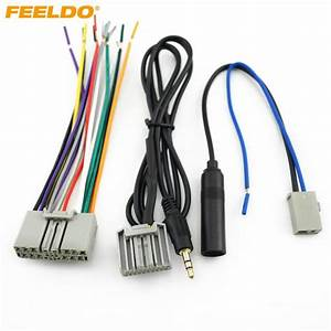 2020 Feeldo Car Head Unit Harness  Aux  Antenna Adapter For