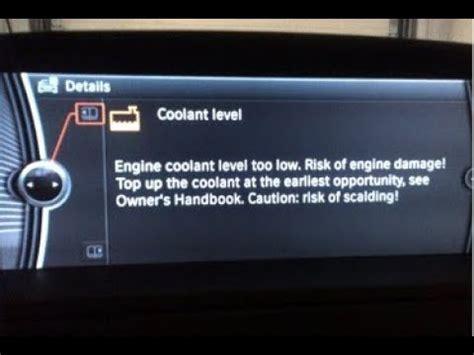 add anti freeze  coolant level warning bmw