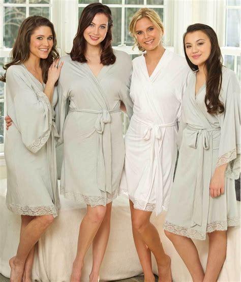 bridal party robes monogrammed robes  bridesmaids lace knit robes  paisley box