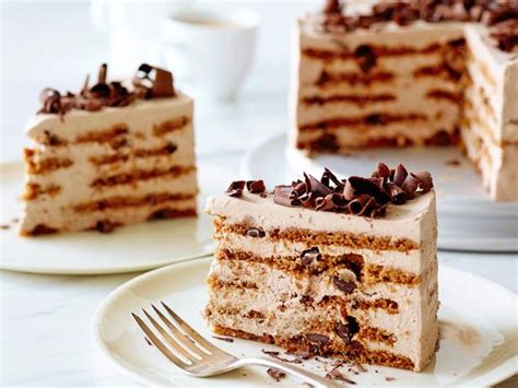 Cool on a baking rack for 30 minutes, then turn the cakes out onto a baking rack to finish cooling. Mocha Chocolate Icebox Cake Recipe   Ina Garten   Food Network