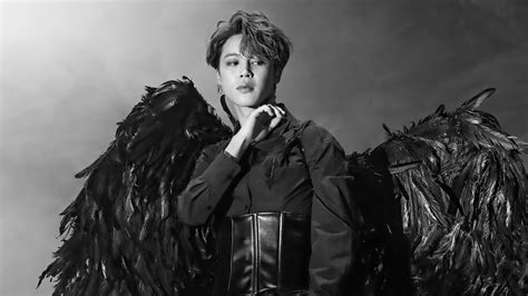 bts jimin black wings map   soul