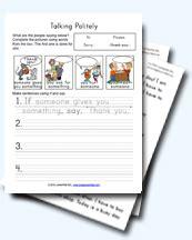 good mannersbeing polite worksheets