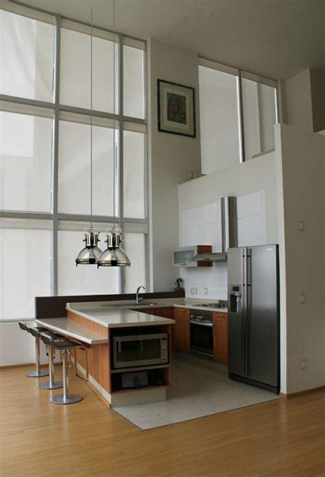 cuisine en l moderne cuisine moderne en bois
