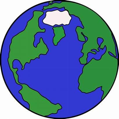 Globe Clip Cartoon Clipart Clker Vector