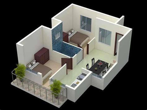 2 Bhk Home Design Image : Sq Ft Single Floor Home House Elevation Gallery With 2 Bhk