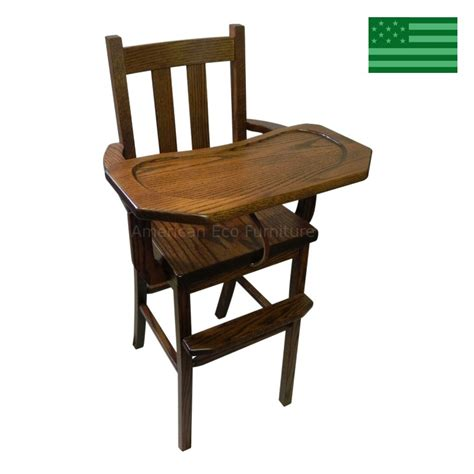 amish handcrafted baby high chair solid wood