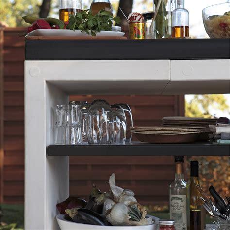 leroy merlin cuisine exterieure plan de travail en béton blanc cassé et noir kitaway l 63 x l 84 x h 71 cm leroy merlin