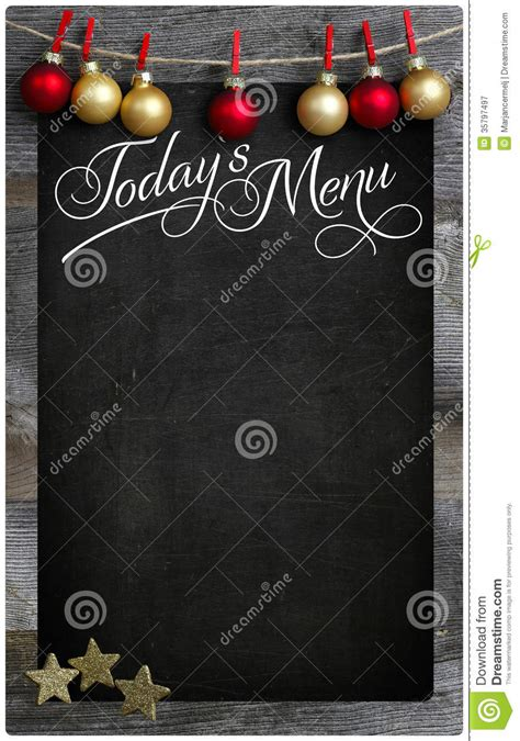 merry christmas todays restaurant menu wooden blackboard