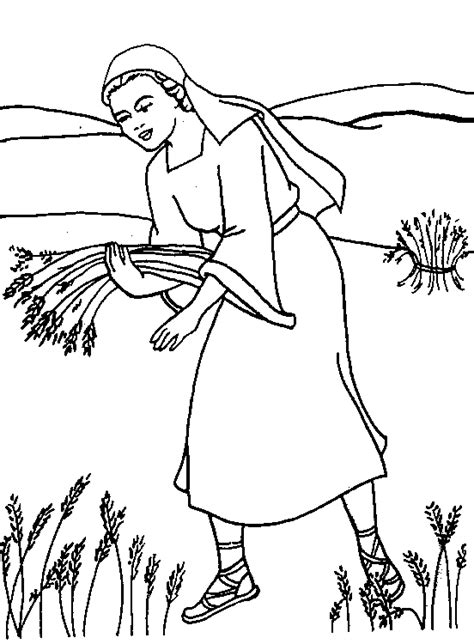 Kleurplaat Ruth by Www Christiancomputergames Net Ruth Verzamelt Op Veld
