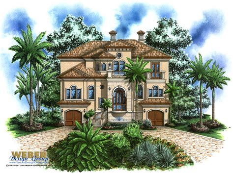 island house 2 story house 3 story mediterranean house plans tropical Tropical