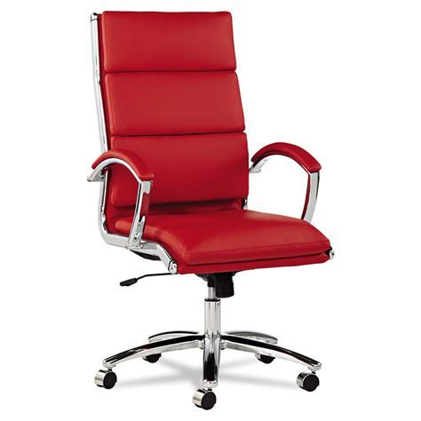 Napoli Red Modern High Back Office Chair   Eurway