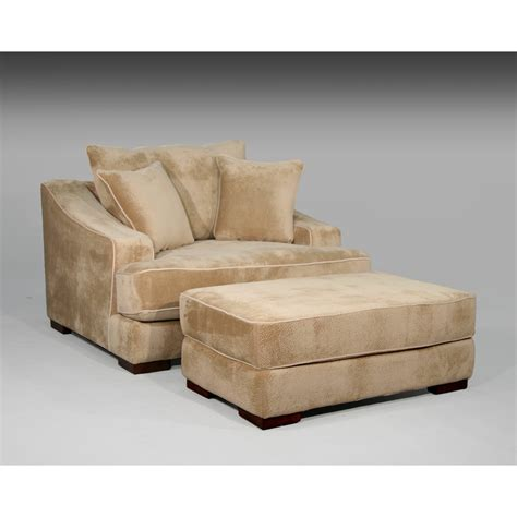 avenue cameron chair and a half and ottoman wayfair