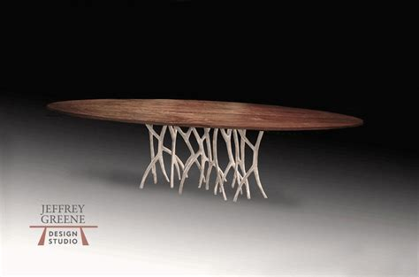 silver forest  edge wood slab dining table jeffrey