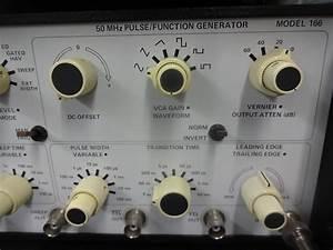Wavetek 166 Function Generator Sine Square Wave Test Bench