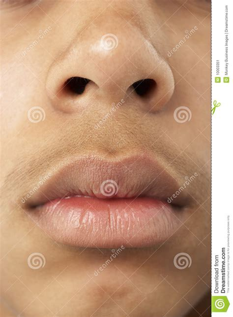 Close Up Of Young Boys Mouth And Nose  Male Models Picture