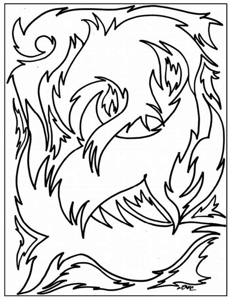 printable abstract coloring pages coloring home