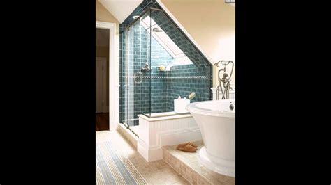 Ideen Badezimmer Mit Dachschräge Blau Backstein Youtube