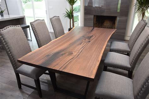 buy  custom single slab black walnut  edge dining