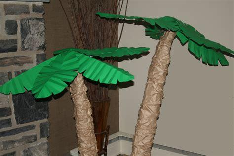 palm trees paper petals