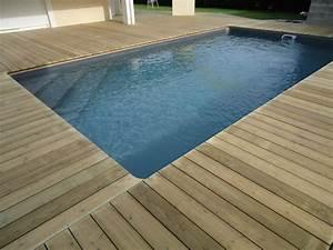 deck 40tour de piscineterrasse de piscine en bois landes With pose margelle bois piscine