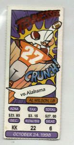 1998 Tennessee VOLS vs Alabama Ticket Stub, BCS National ...
