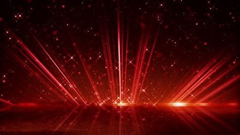 Red Light Beams And Shimmering Particles Loopable