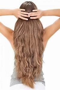 Long layered hair back
