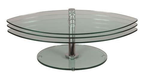 bureau console extensible 2 en 1 table basse en verre pétale 3 plateaux table basse verre