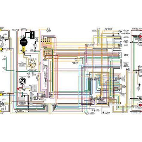 1965 Chevy El Camino Wiring Diagram by El Camino Color Laminated Wiring Diagram 1964 1975 El