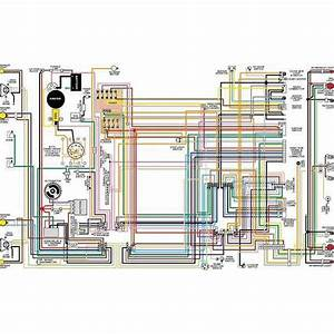 El Camino Color Laminated Wiring Diagram  1964-1975