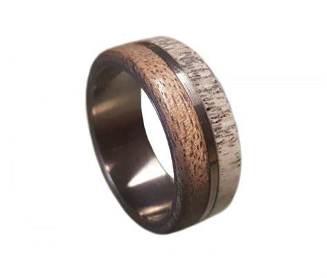 stainless steel ring deer antler ring antler ring mens