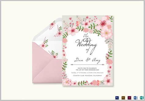 floral wedding templates editable psd ai format