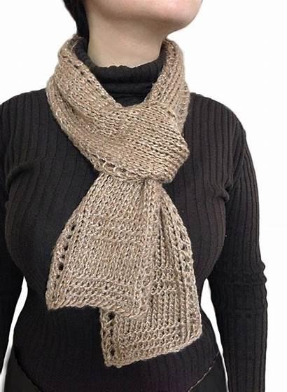 Scarf Knitting Knit Beginner Easy Stitches Patterns