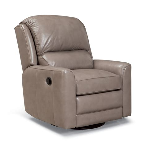 Leather Swivel Recliners by 720 Leather Swivel Glider Recliner Amish Oak Furniture