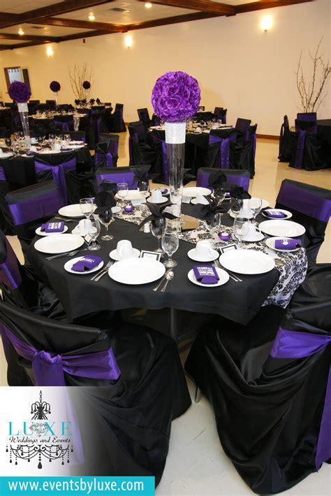 purple black and white damask wedding decor damask wedding decor purple wedding