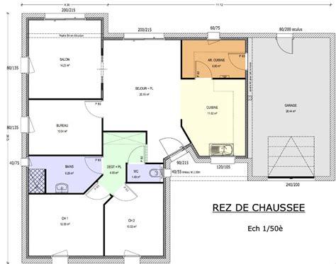 plan de maison gratuit 3 chambres plan de maison 90m2 3 chambres