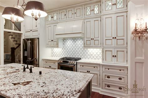 white kitchen with blue backsplash 5 ways to create a white kitchen backsplash interior 1832