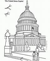 Capitol Building Coloring Pages Landmarks Places Around Sheets Colouring Printable Drawing Famous Historic Adult Patriotic Books American Fun Sheet Buildings sketch template